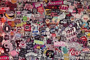 sticker, wall, color